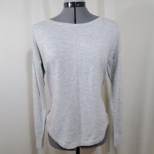 ANN TAYLOR LOFT Gray & White Blouse Size S
